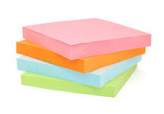 Stack of blank post-it notes stock photography