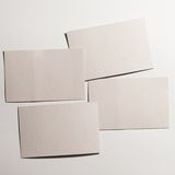 Stack of blank white business cards Stock Photography