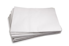 Stack of blank white paper Royalty Free Stock Images
