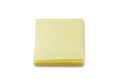 Stack of blank yellow Post-it notes Royalty Free Stock Photo