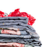 Stack of blankets. Stock Image