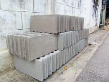Stack of block brick Royalty Free Stock Image