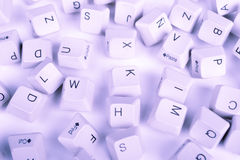 Stack of blue Computer Keyboard keys Royalty Free Stock Photo