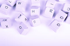 Stack of blue Computer Keyboard keys Stock Image