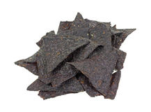 Stack Blue Corn Tortilla Chips Royalty Free Stock Images