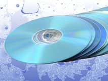 Stack of Blue Disks Discs over Blue Fractal Stock Images