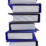 A stack of blue folders for office papers Stock Photos