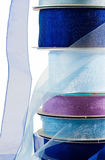 Stack of blue gauze ribbon Royalty Free Stock Photos