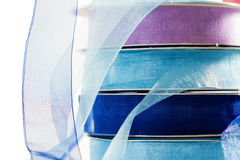 Stack of blue gauze ribbon Stock Photography