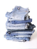 Stack of blue jean Stock Photos