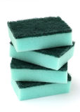 Stack of Blue Kitchen Sponges Royalty Free Stock Photo