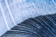 Stack of Blue Napkins. (shallow depth of field Stock Photos