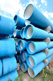 Stack of blue pipes Stock Photography