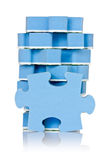 Stack of blue puzzle Stock Image