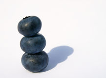 Stack of blueberries Stock Photos