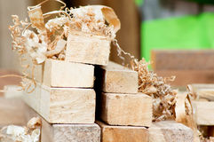 Stack of boards. Royalty Free Stock Photo