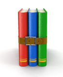 Stack of book with belt (clipping path included) Stock Image