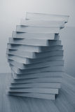 Stack of book in office desktop Stock Photo