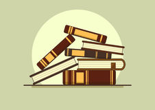 Stack of book. Stack of old book, flat vector illustration royalty free illustration