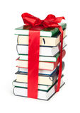 Stack of book with ribbon Stock Photo