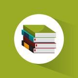 Stack book school utensils icon Royalty Free Stock Photo