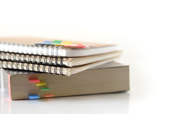 Stack of book with sticky note Royalty Free Stock Photo
