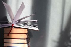Stack of book for student royalty free stock photography