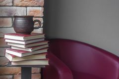 A stack of book volumes royalty free stock photo