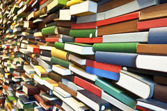 Stack of book wall Royalty Free Stock Image