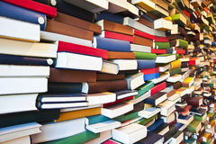 Stack of book wall Stock Image