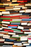 Stack of book wall Royalty Free Stock Images