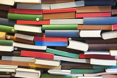 Stack of book wall Stock Photos