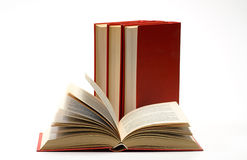 Stack book on white isolated Royalty Free Stock Photo