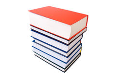 Stack of Books. Isolated On White Stock Image