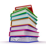 Stack of books. Similar education, book, back to school. 3D render Royalty Free Stock Photography