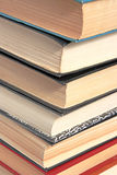 The stack of books. Closeup Royalty Free Stock Photos