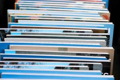 A stack of books. On sale Royalty Free Stock Photo