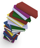 Stack of books. Stack of colorful books. 3D rendered image Royalty Free Stock Photography