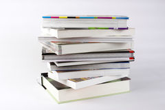 Stack of books. A stack of books against a white background Stock Photography