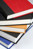 Stack of Books. Stack of various colored books for school/learning stock images
