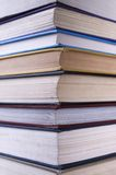 Stack of books. Closeup image of a group of stacked books stock photos