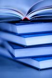 Stack of books. Books lie on each other. with copy-space, small depth to sharpness royalty free stock images