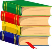 Stack of Books. Vector illustration over white. EPS 8 Royalty Free Stock Image