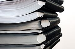 Stack of books. On white background Stock Photography