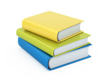 Stack of  books. Stack of colorful books isolated on white Stock Image