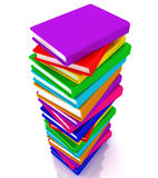 Stack of books. This is a 3D rendered picture Stock Images