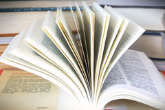 Stack of books. Open book and stack of books full frame Royalty Free Stock Images