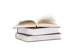 Stack of books. On white background Stock Image