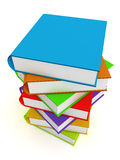 Stack of Books. A Colourful 3d Rendered Illustration of a Stack of Books Stock Images