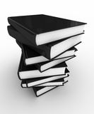 Stack of books. Stack of unmarked books over white background Royalty Free Stock Photography